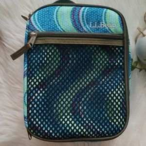 L.L. Bean Torquoise Green Travel Lunch Tote